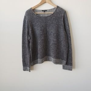Eileen Fisher crew neck grey sweater size L